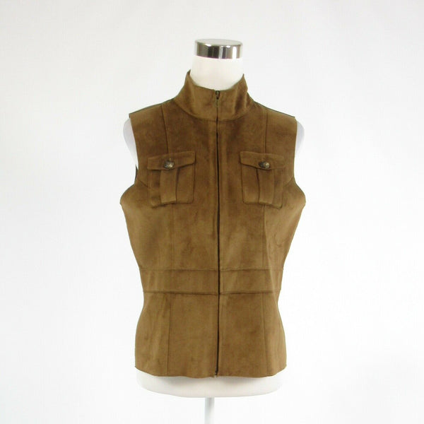 Khaki suede LAUREN DRY GOODS SUPPLY COMPANY sleeveless vest PS-Newish