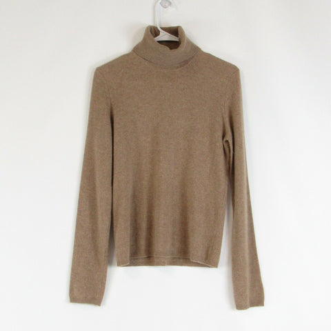 Beige 100% cashmere M A G BY MAGASCHONI long sleeve turtleneck sweater M