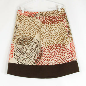 Beige brown BANANA REPUBLIC A-line skirt 14