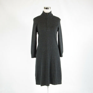 Gray cotton blend TOMMY BAHAMA stretch long sleeve sweater dress M