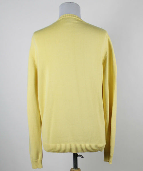 EXPRESS yellow mercerized combed cotton longsleeve ribbed trim V-neck sweater S-Newish