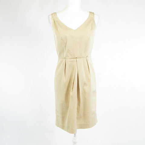 Beige TALBOTS sleeveless sheath dress 4P
