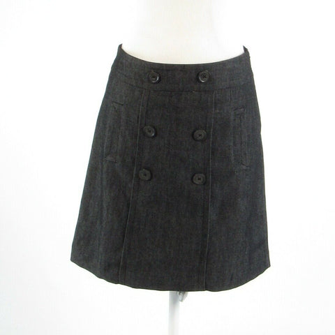 Charcoal gray chambray SANDRO A-line skirt 4P