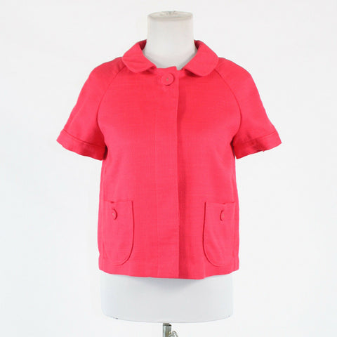 Salmon pink 100% cotton BANANA REPUBLIC short sleeve button down jacket XS-Newish
