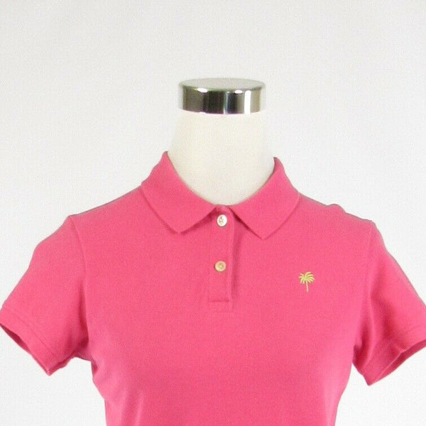 Pink LILLY PULITZER button chest short sleeve polo shirt blouse S-Newish