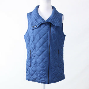 Blue diamond quilted MARC NEW YORK sleeveless vest M-Newish