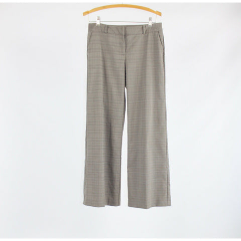 Taupe ivory plaid stretch NEW YORK and COMPANY boot cut dress pants 2