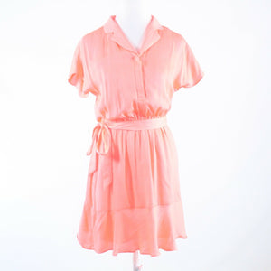 Salmon pink BANANA REPUBLIC cap sleeve A-line dress 4P-Newish