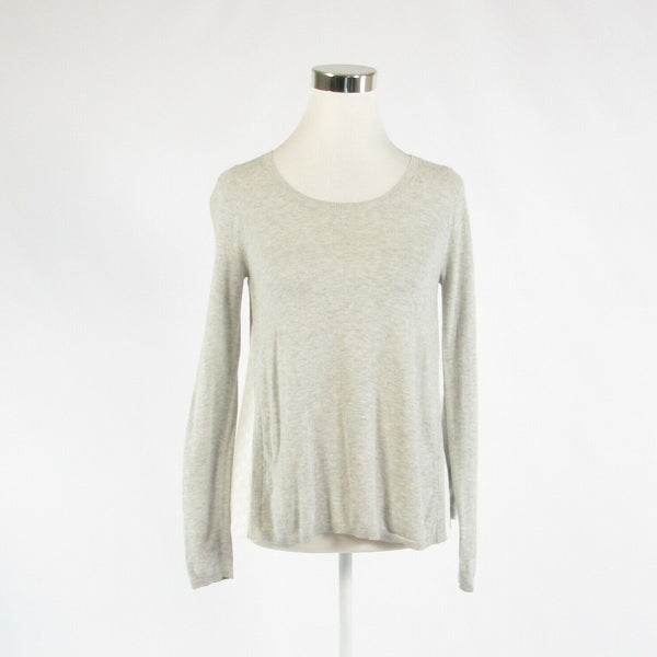Heather gray ANN TAYLOR LOFT long sleeve crewneck sweater XS-Newish