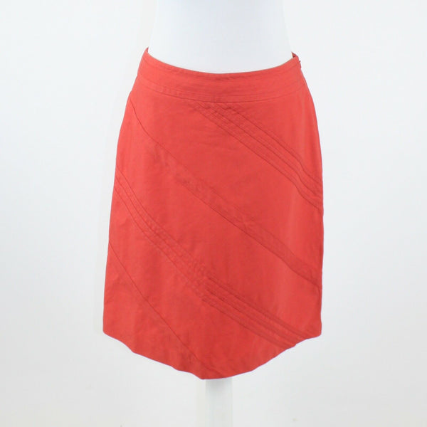 Salmon pink cotton blend textured ANN TAYLOR A-line skirt 6