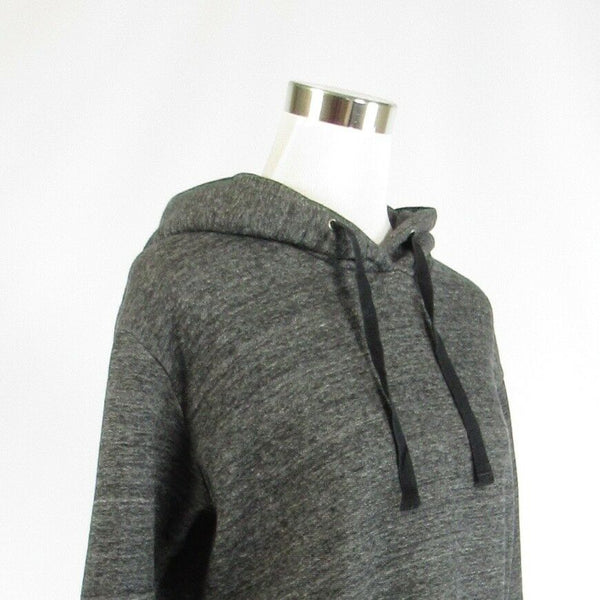 Heather gray cotton blend J. CREW long sleeve hooded sweater XS-Newish