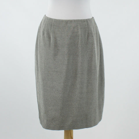 Gray rayon LINDA ALLARD ELLEN TRACY straight knee-length skirt 10-Newish
