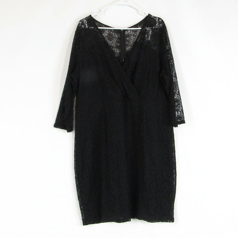 Black lace LANE BRYANT stretch sheath dress 20