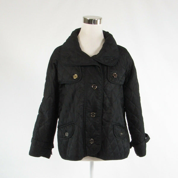 Black quilted TALLY-HO long sleeve jacket M-Newish