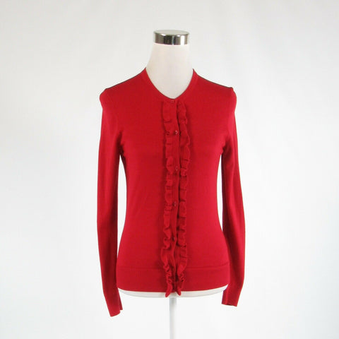Red cotton blend BANANA REPUBLIC long sleeve cardigan sweater S-Newish