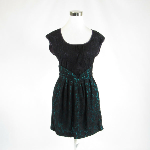 Black lace WALTER cap sleeve A-line dress 2-Newish