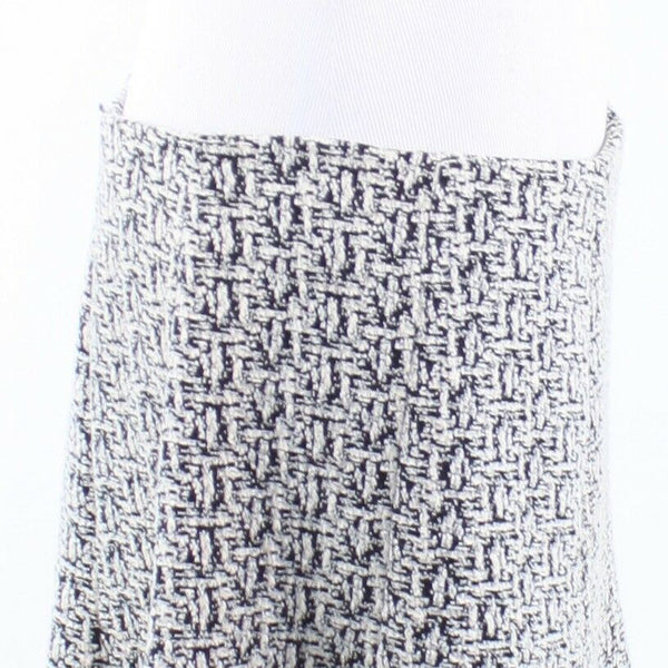 White black weave print tweed BANANA REPUBLIC A-line skirt 14-Newish