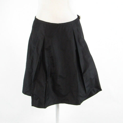 Black silk blend SYLVIA LIEN pleated skirt 6-Newish