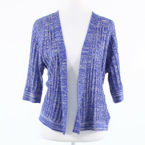 Purple gray space dyed wool blend ANTHROPOLOGIE SPARROW cardigan sweater S