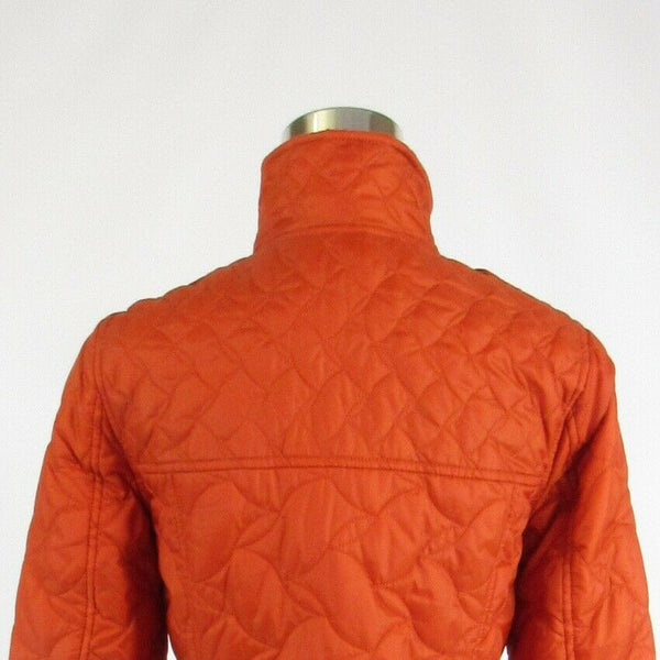 Orange quilted LANDS' END long sleeve puffer coat XS-Newish