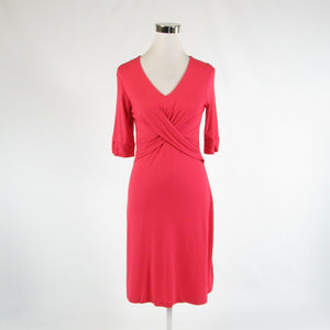 Salmon pink BANANA REPUBLIC stretch 1/2 sleeve A-line dress S