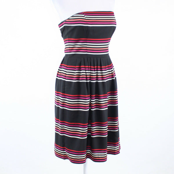 Black multicolor pinstripe WHITE HOUSE BLACK MARKET empire waist dress 0-Newish