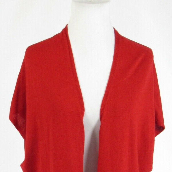 Red COLDWATER CREEK cap sleeve cardigan sweater M-Newish