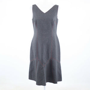 Gray DAVID MEISTER sleeveless flare hem A-line dress 8-Newish