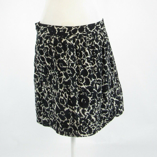 Black white cheetah 100% cotton ANN TAYLOR LOFT A-line skirt 8-Newish