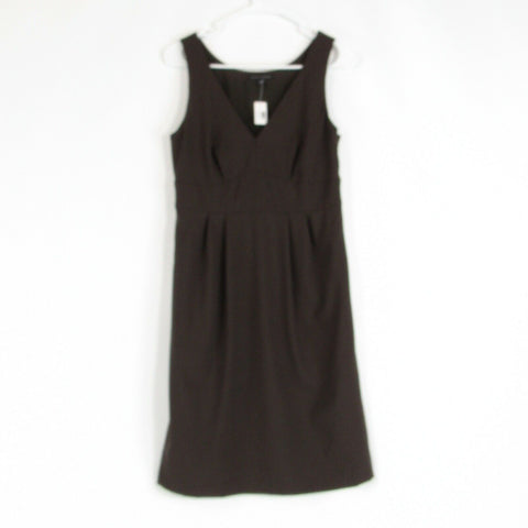 Brown wool blend BANANA REPUBLIC A-line dress 6