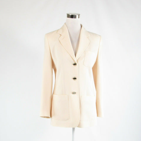 Light beige MONDI SPORT stretch long sleeve blazer jacket GR36 8