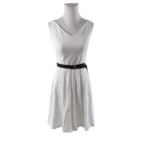 White black eyelet DONCASTER sleeveless A-line dress 2P