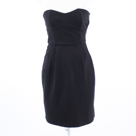 Black stretch DIANE VON FURSTENBERG strapless sheath dress 2