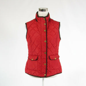 Red brown BARILOCHE suede trim sleeveless vest IT44 10 M (6-8)-Newish
