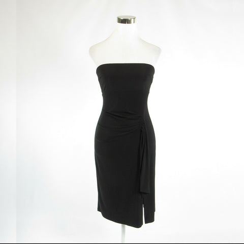 Black FRANK LYMAN stretch strapless sheath dress XS