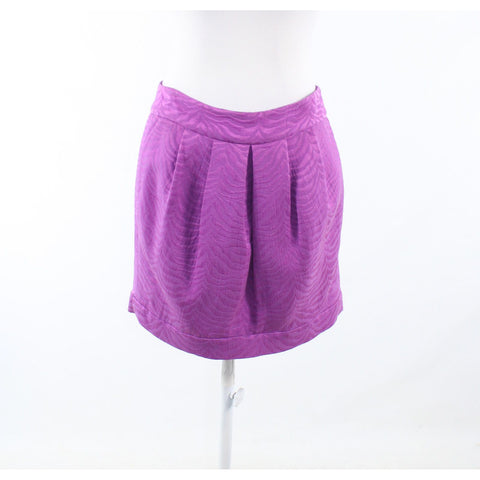 Orchid purple textured cotton blend REBECCA TAYLOR mini skirt 6