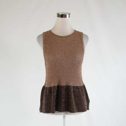 Light brown purple color block ANTHROPOLOGIE MOTH sleeveless vest sweater M
