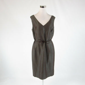 Gray brown iridescent ANNE KLEIN sleeveless sheath dress 12