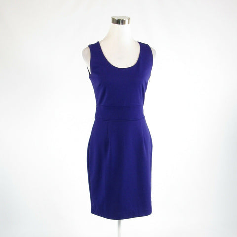 Purple BANANA REPUBLIC stretch sleeveless sheath dress 4