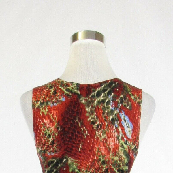 Red black snake silk blend MAGASCHONI sleeveless vest sweater M-Newish