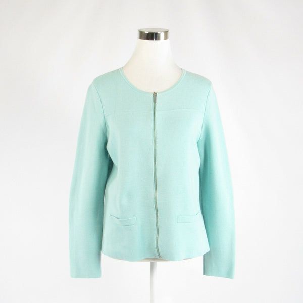 Light green 100% cotton TALBOTS stretch long sleeve jacket M-Newish