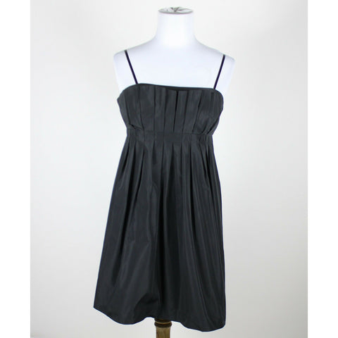 BCBGENERATION black strapless pleated bust above knee dress 8-Newish