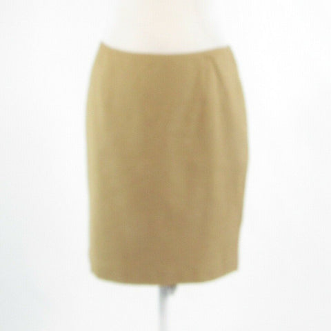 Beige cotton blend ETCETERA stretch pencil skirt 4