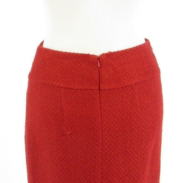 Red tweed ANTHROPOLOGIE MOULINETTE SOEURS pencil skirt 2-Newish