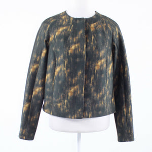 Black yellow faded print WORTH long sleeve jacket P