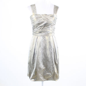 Beige gold snake DIANE VON FURSTENBERG sleeveless sheath dress 6