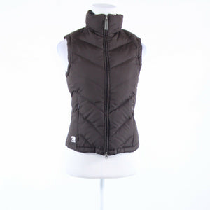Dark brown down PREDATOR sleeveless full zip vest S-Newish