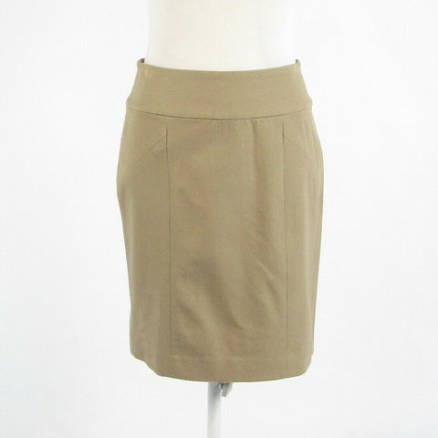 Beige cotton blend BANANA REPUBLIC pencil skirt 2-Newish