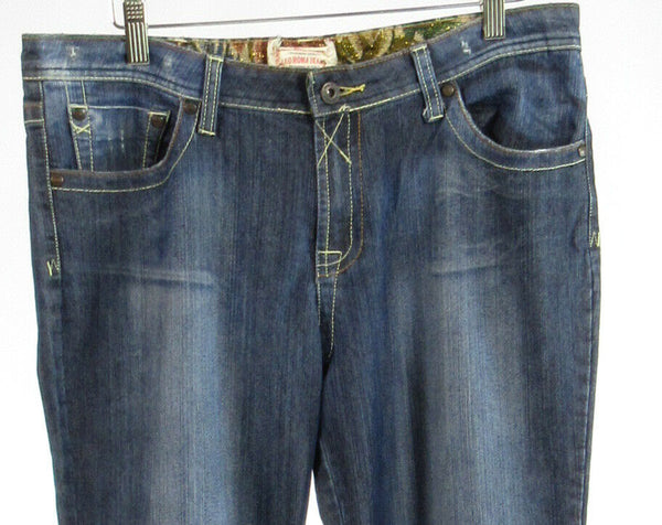 Stonewashed cotton blend LEO ROMA JEANS bootcut jeans 13