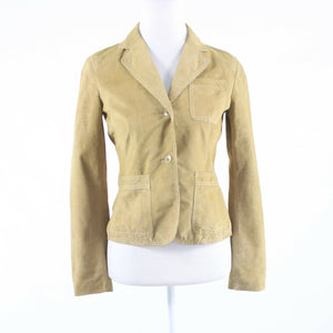 Beige suede KENNETH COLE NEW YORK long sleeve jacket XS-Newish
